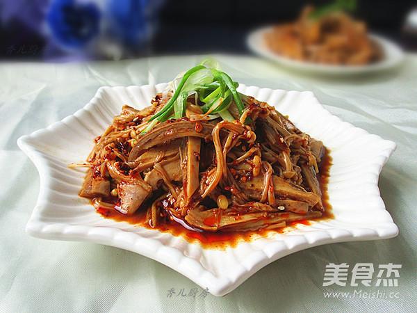 香辣金针菇猪肚丝怎么做