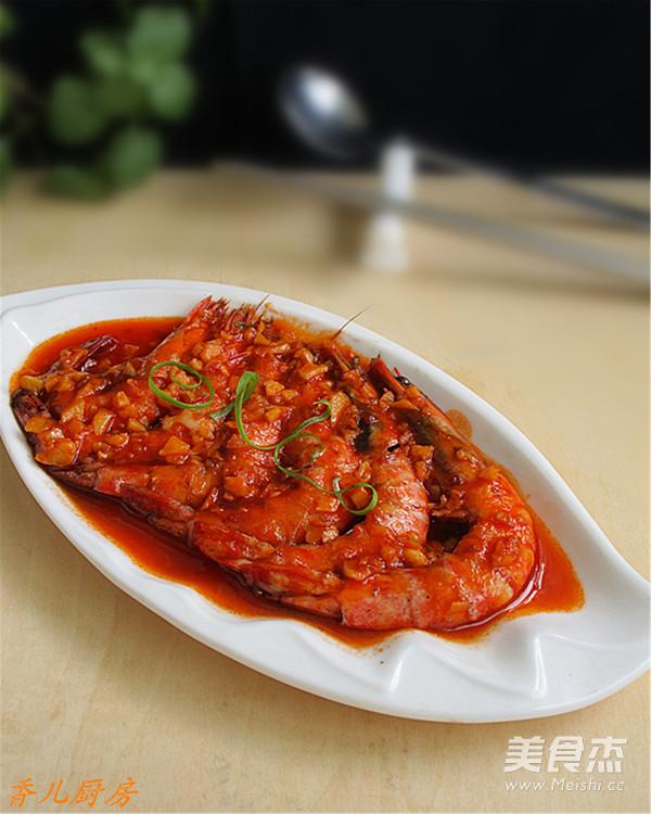 茄汁斑节虾成品图