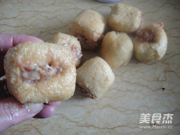 鲍汁油豆腐塞肉的做法图解