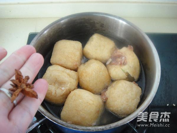 鲍汁油豆腐塞肉的简单做法