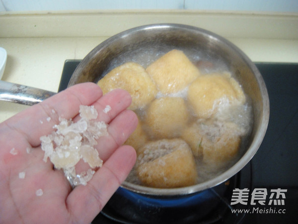 鲍汁油豆腐塞肉怎么炒