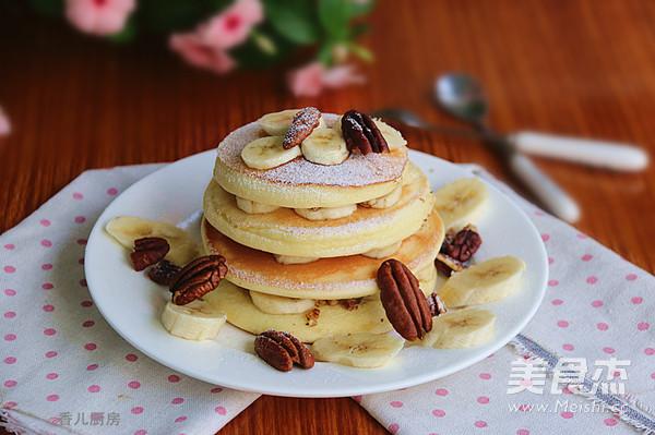 核桃香蕉松饼成品图