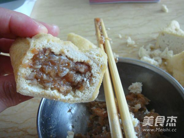 浇汁油豆腐塞肉的简单做法