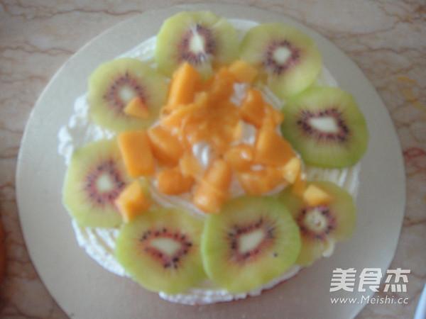 水果裸蛋糕的步骤