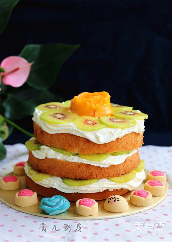 水果裸蛋糕成品图