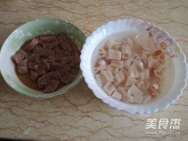糖醋莲藕藕肉丁的做法图解