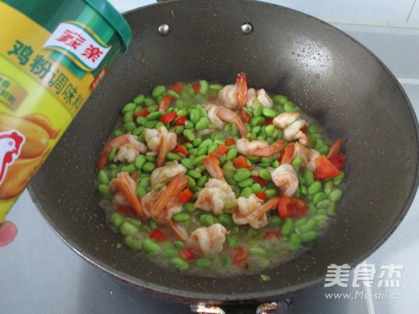 毛豆凤尾虾怎样做