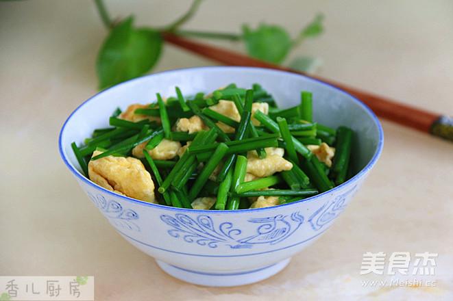 韭菜苔炒鸡蛋怎么炖