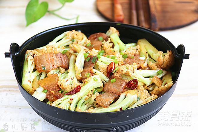 咸肉花菜干锅怎样做