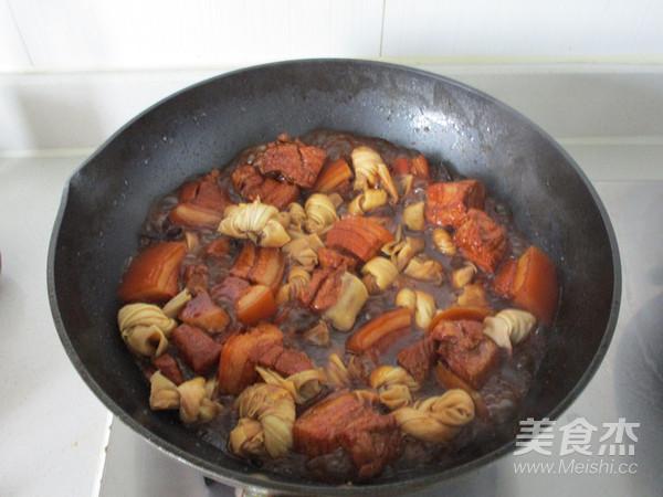 百叶结红烧肉怎样做
