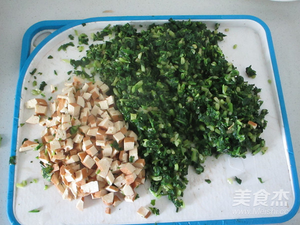 马兰头豆干青团的简单做法