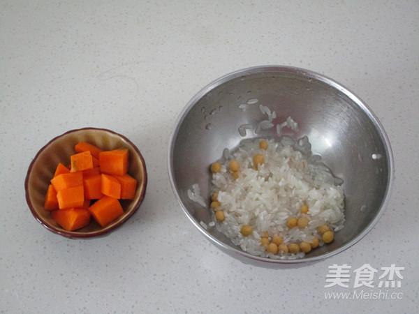 南瓜黄豆大米糊的做法图解