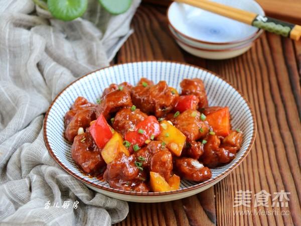 彩椒古老肉怎样做