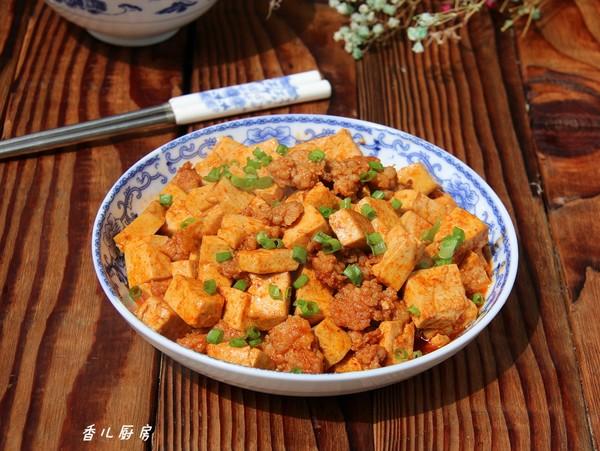 酱烧肉末豆腐成品图