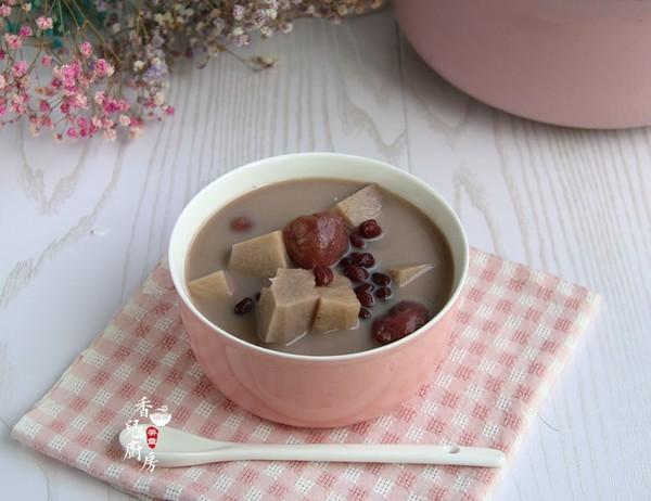 奶香红豆荔枝芋艿甜汤成品图