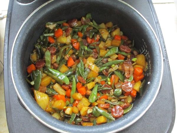 扁豆焖饭怎么炒