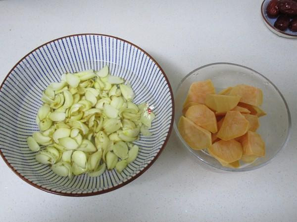 百合红薯汤的做法图解