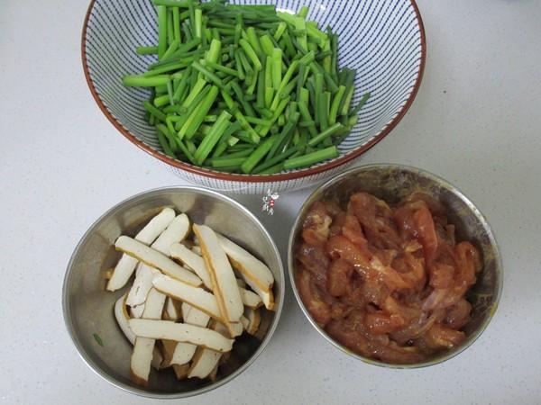 韭菜苔豆干炒肉丝的做法图解