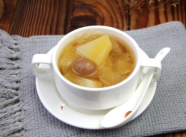 雪莲果桂圆银耳汤怎么吃
