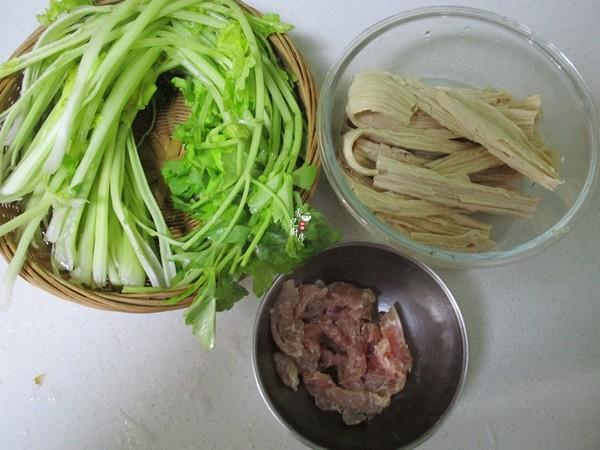 芹菜腐竹炒肉丝的做法大全