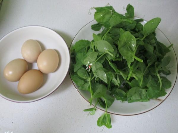 豌豆苗炒土鸡蛋的做法大全