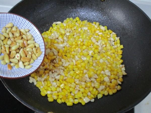 松仁鸡肉炒玉米怎么炒