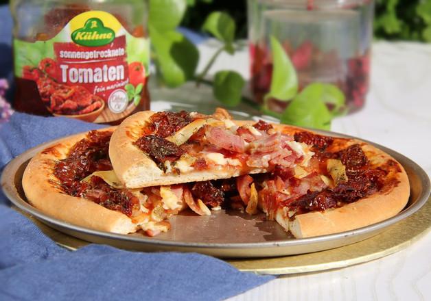 蛤蜊腌番茄披萨的步骤