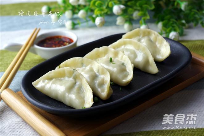 猪肉韭菜蒸饺成品图