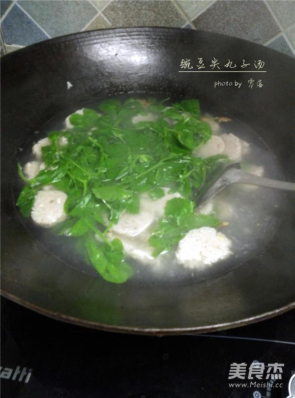 豌豆尖圆子汤怎么做