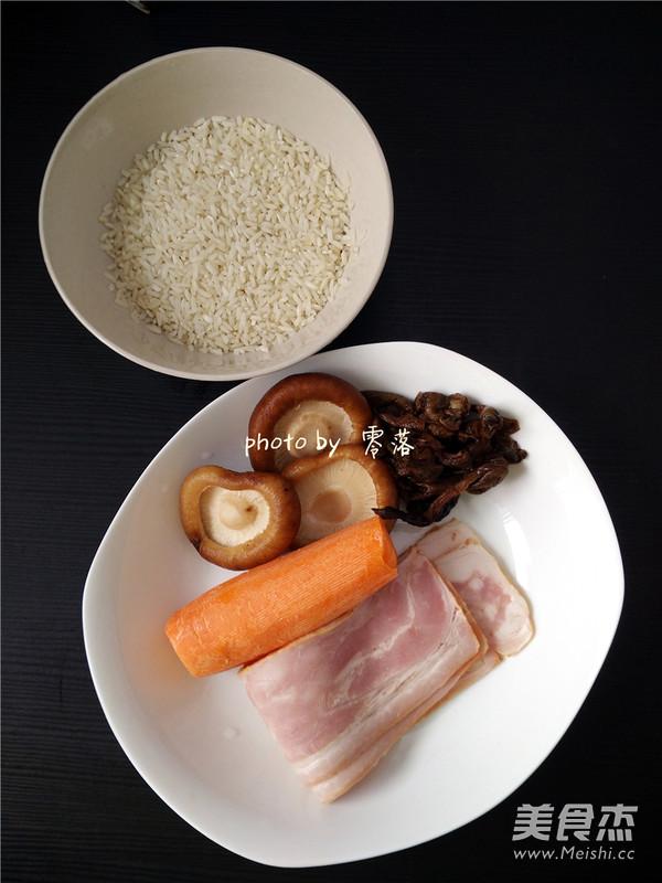 香菇培根酱油饭的做法大全