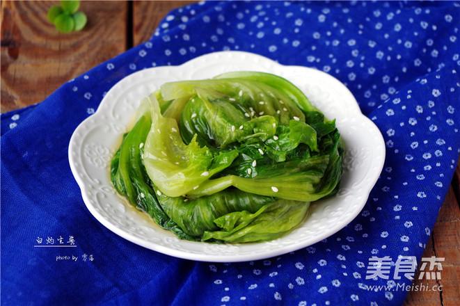 白灼生菜成品图