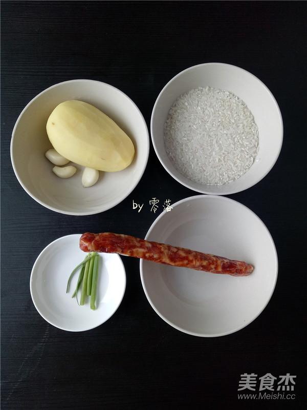 土豆腊肠饭的步骤