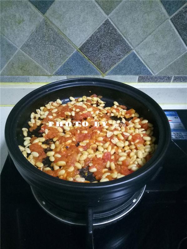 茄汁焗黄豆怎么煸