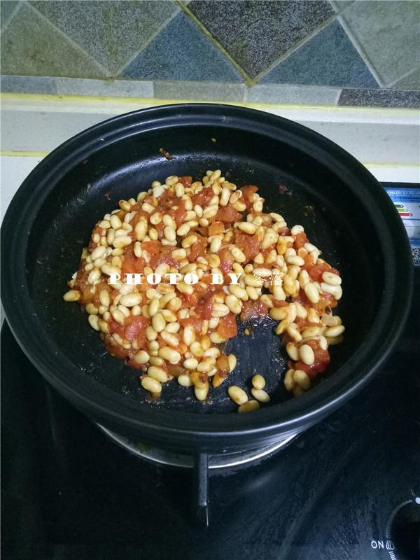 茄汁焗黄豆怎样煸