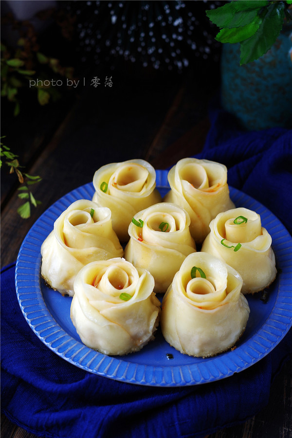 玫瑰煎饺成品图