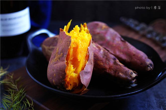 香甜烤红薯成品图