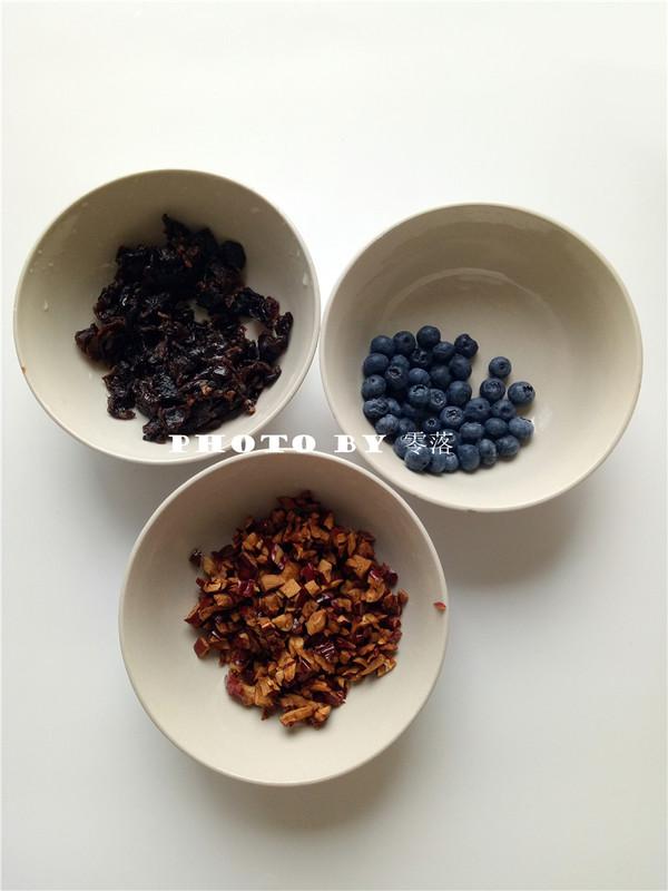 蓝莓燕麦布丁的做法图解