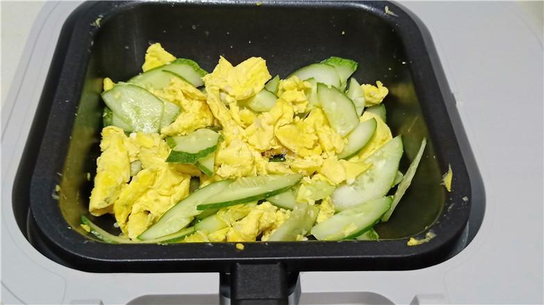 黄瓜炒鸭蛋怎么煮