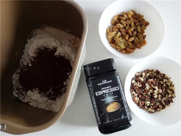香醇咖啡坚果面包的做法大全