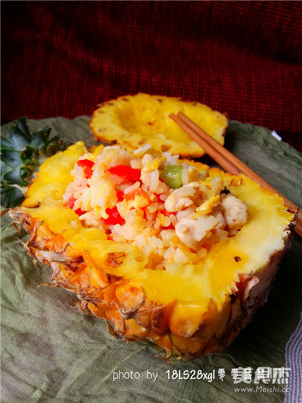 香甜菠萝饭成品图