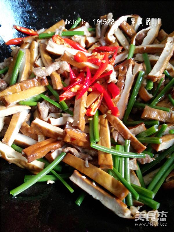 韭菜豆腐干肉丝怎么煮