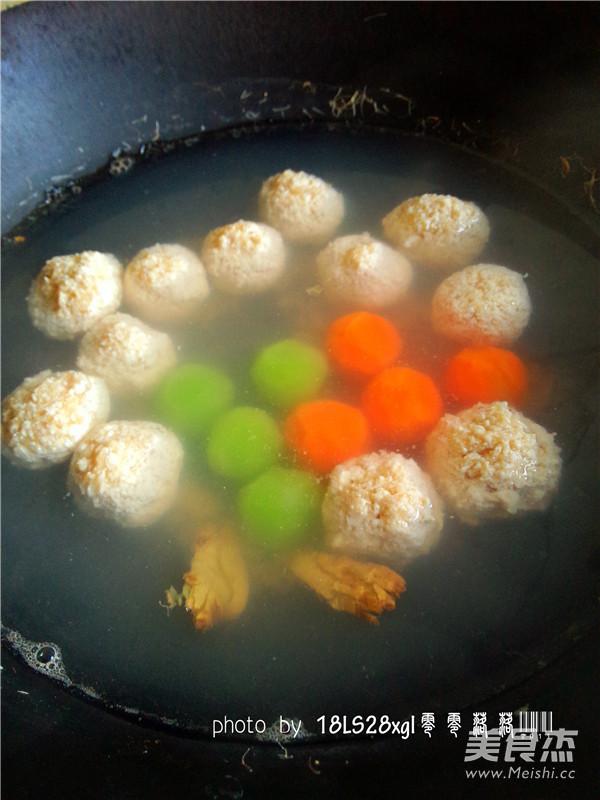 彩色鸡肉丸子怎么煮
