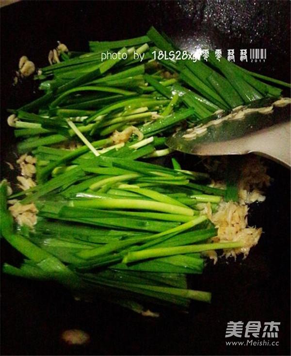 虾皮韭菜的简单做法