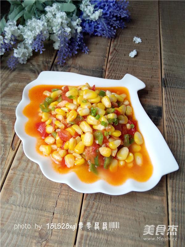 番茄玉米丁怎样做