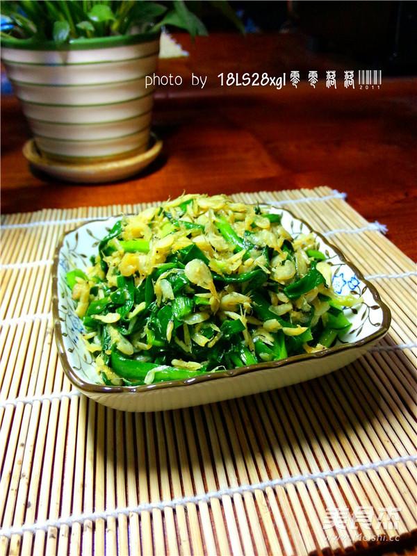 虾皮韭菜怎么炒