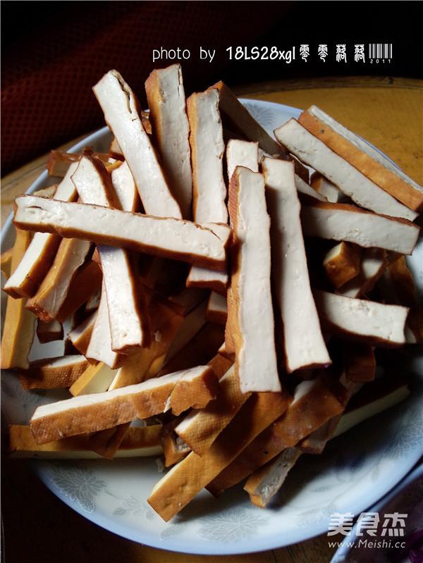 韭菜豆腐干肉丝的做法图解