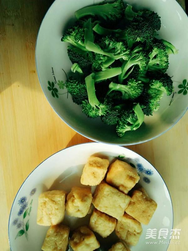 油豆腐烧西兰花的做法图解