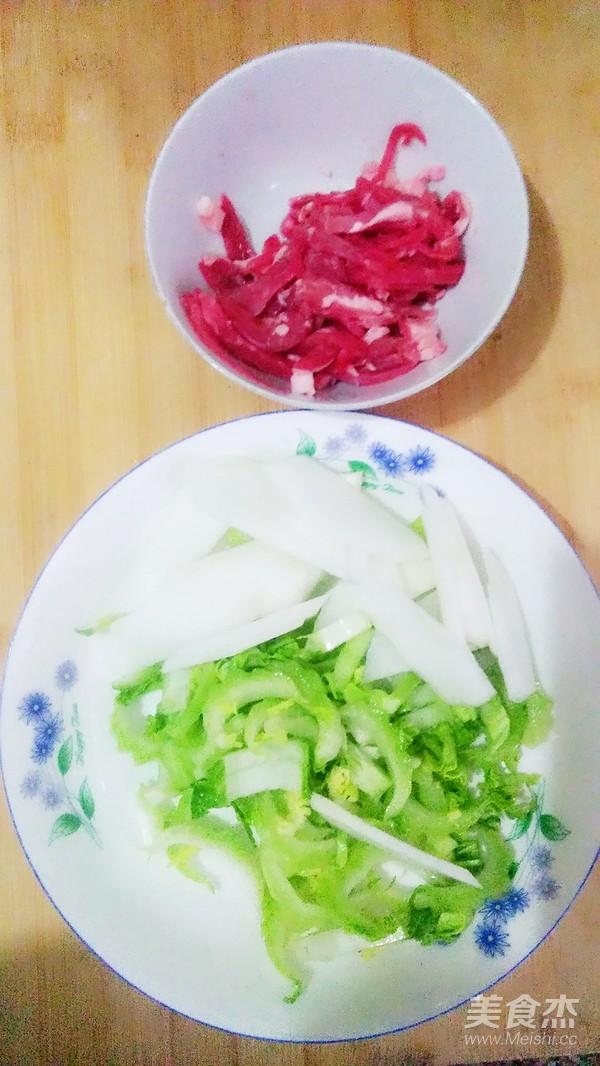 肉丝炒菜薹的做法图解