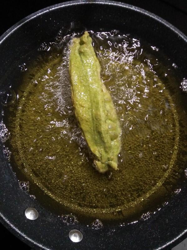 早餐--菠菜汁油条怎么吃