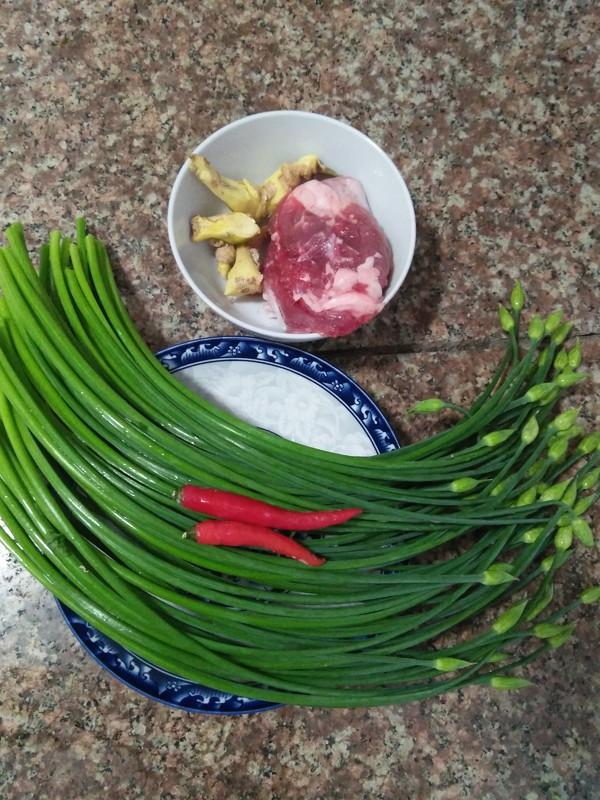 韭菜花红椒炒肉丝的做法大全